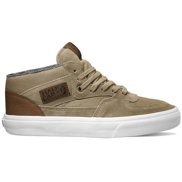 23f5a2f08a Vans Half Cab C L Silver Mink True White Sneakers